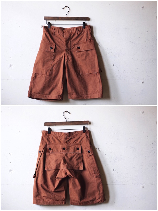 TCB jeans Crawling Shorts Brown Canvas-4