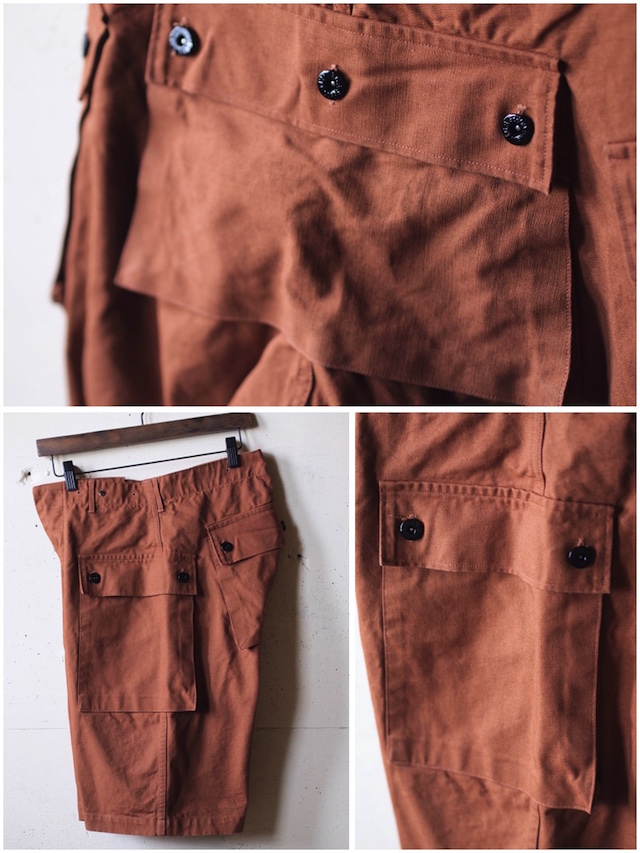 TCB jeans Crawling Shorts Brown Canvas-6