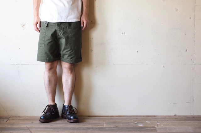 TCB jeans Crawling Shorts Rip Stop OD-7