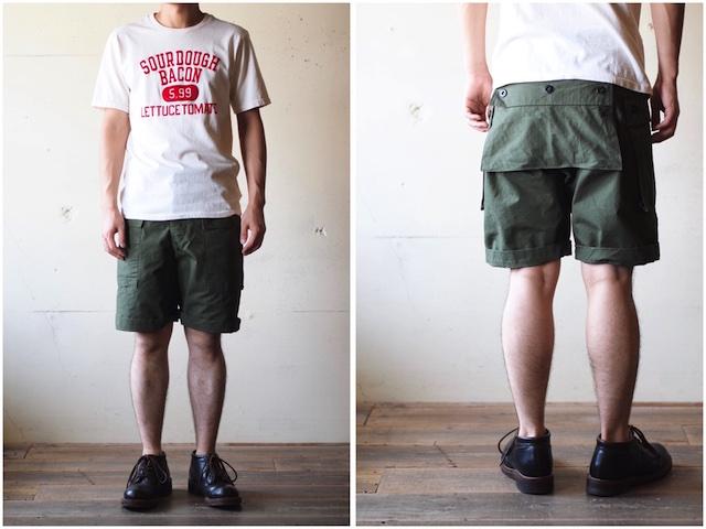 TCB jeans Crawling Shorts Rip Stop OD-8