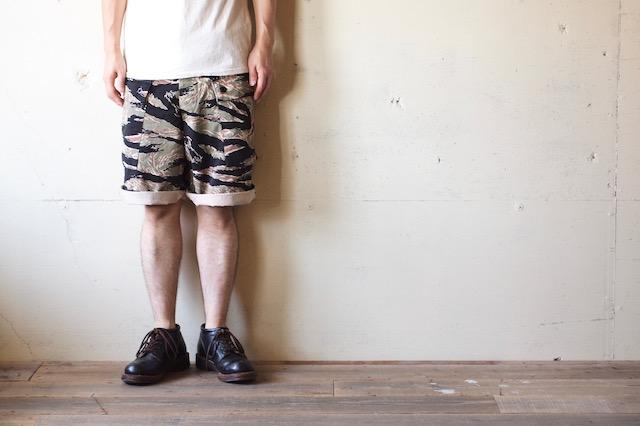 TCB jeans Crawling Shorts Tiger Camo-7