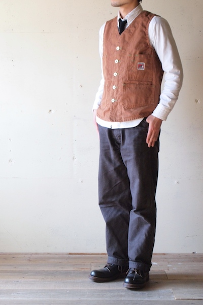 TCBjeans Foremen Vest, Brown Duck-3