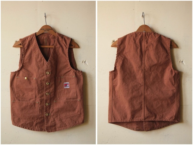 TCBjeans Foremen Vest, Brown Duck-4