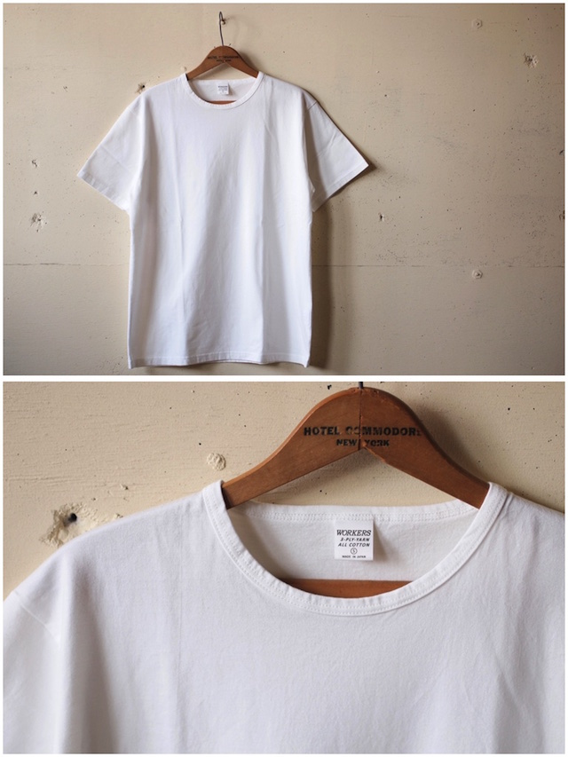 WORKERS 3-PLY Tee White-2