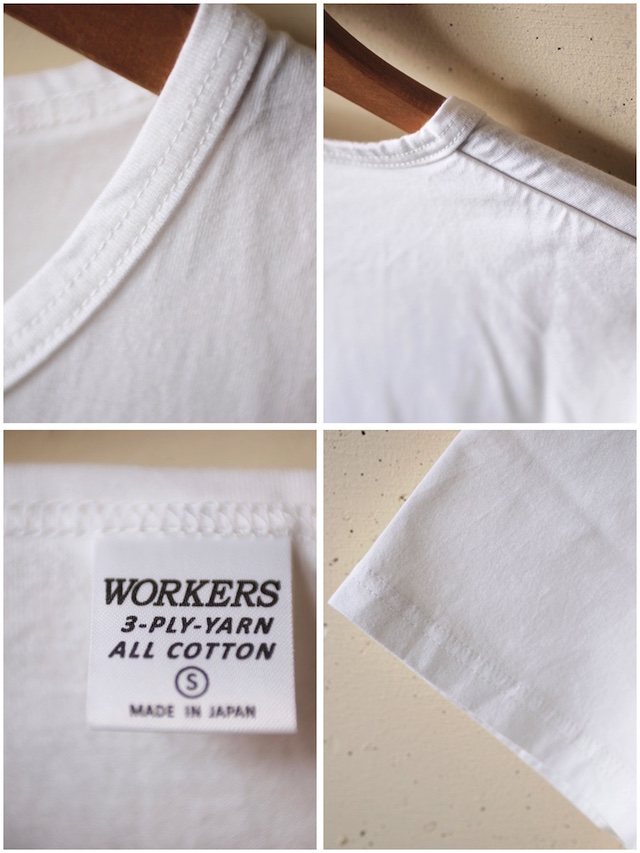 WORKERS 3-PLY Tee White-3