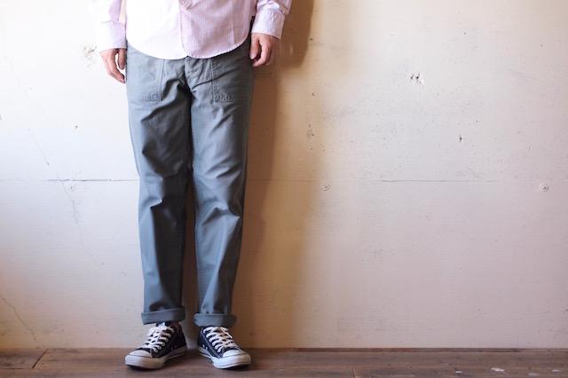 WORKERS Baker Pants Slim Fit Reversed Sateen Sage Green-2
