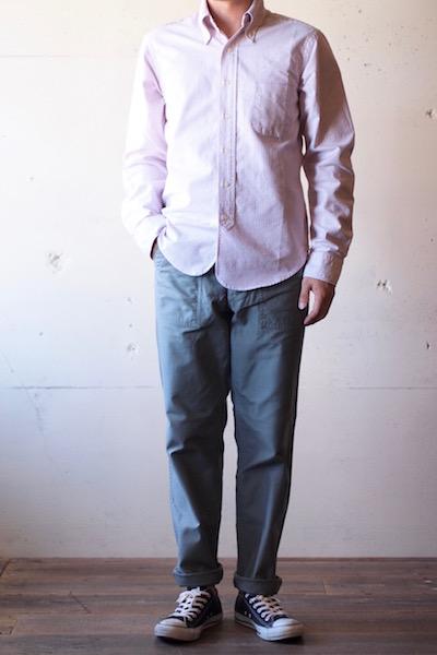 WORKERS Baker Pants Slim Fit Reversed Sateen Sage Green-3