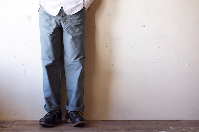 WORKERS Baker Pants Standard Fit Reversed Sateen Sage Green-2