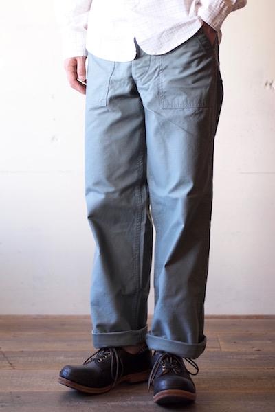 WORKERS Baker Pants Standard Fit Reversed Sateen Sage Green-3