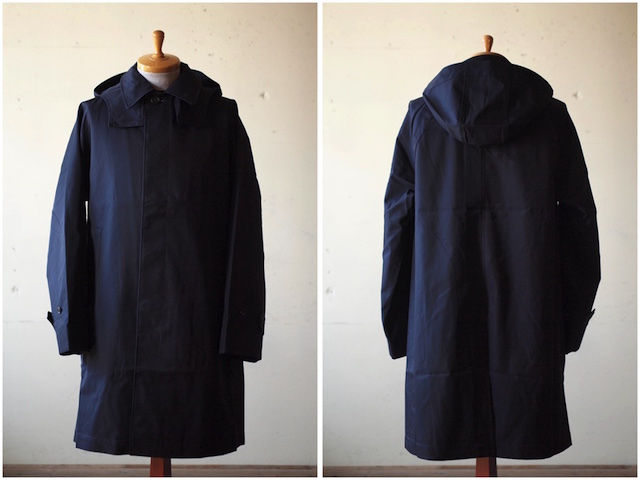 WORKERS Bal Collar Coat Gabardine Navy-2