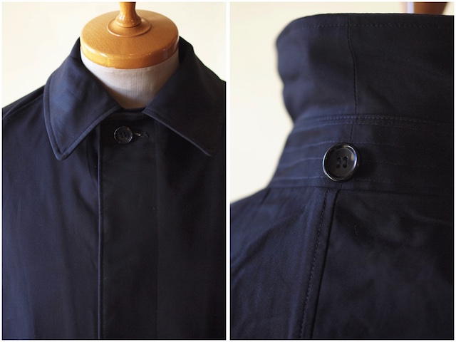 WORKERS Bal Collar Coat Gabardine Navy-5