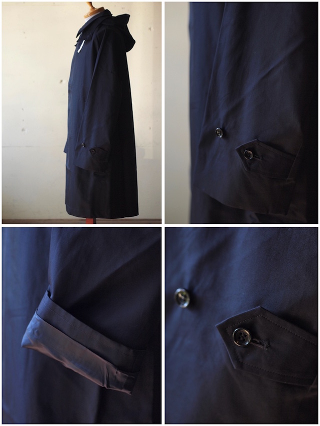 WORKERS Bal Collar Coat Gabardine Navy-6