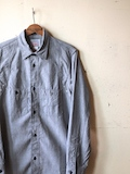 WORKERS Champion Shirt, Grey Chambray-Link