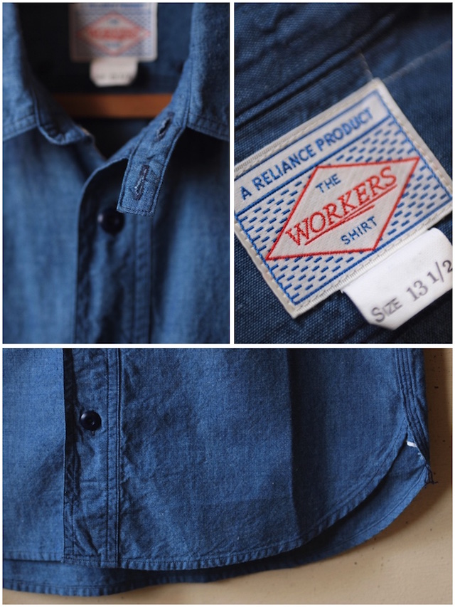 WORKERS Cigaret Pocket Work Shirt Beta Chambray-6