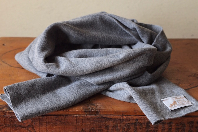 WORKERS Cotton Knit Muffler Heather Grey-2