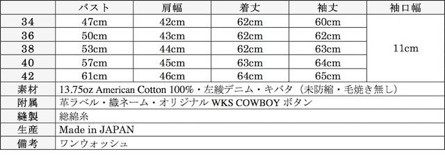 WORKERS Cowboy JKT 13.75oz Left-Hand Weave Raw Denim-Graph