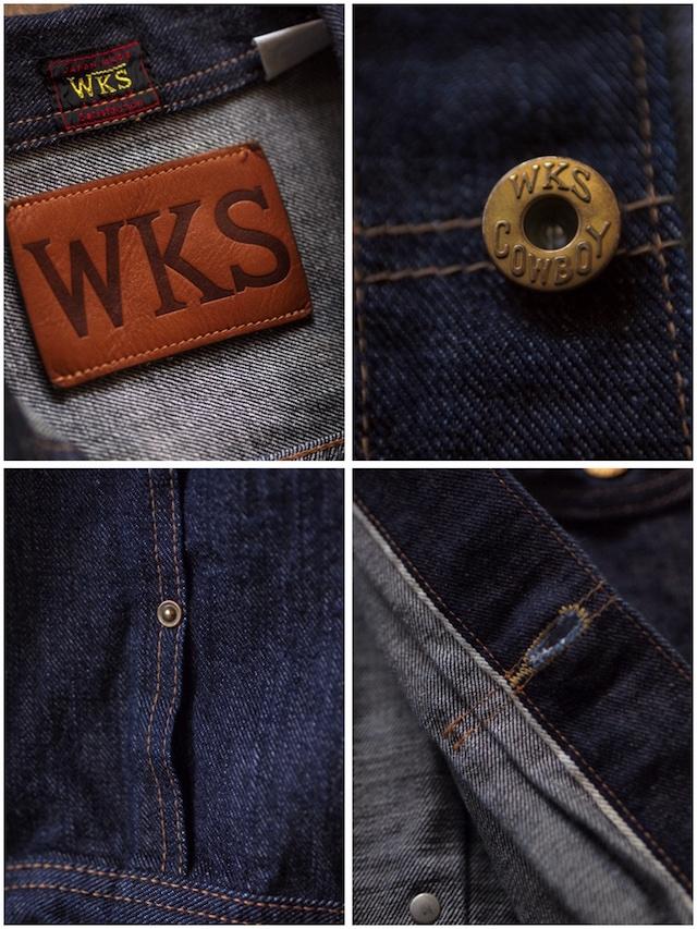 WOKRERS Cowboy JKT Left Hand Weave Raw Denim-7
