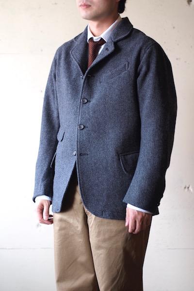 WORKERS Creole JKT Wool Pattern Tweed-3