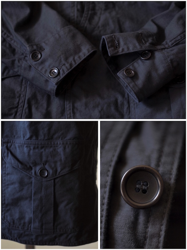 WORKERS Cruiser JKT Reversed Sateen Black-7