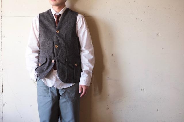 WORKERS Cruiser Vest Homespun Tweed Brown-2