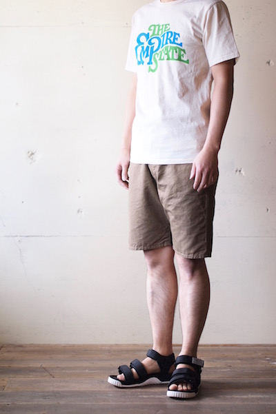 WORKERS EZ Shorts Cotton×Linen Karsey Beige-3