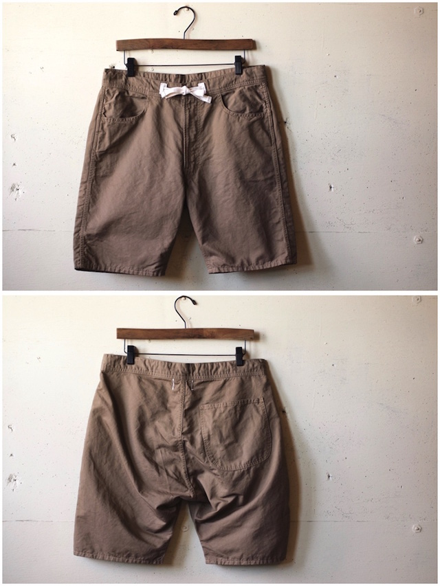 WORKERS EZ Shorts Cotton×Linen Karsey Beige-4
