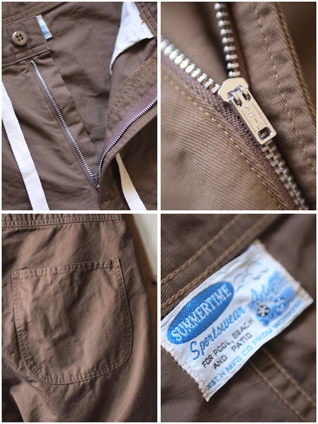 WORKERS EZ Shorts Cotton×Linen Karsey Beige-5