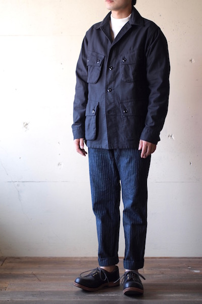 WORKERS Fatigue JKT Reversed Sateen Black-3