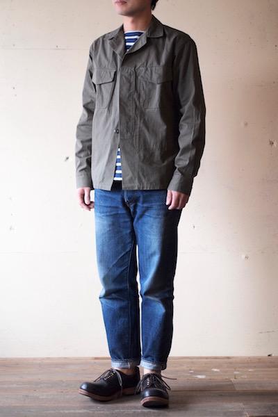WORKERS Fatigue Shirt Cotton×Cordura Nylon Ripstop OD-3