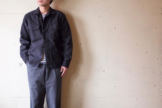 WORKERS Fatigue Shirt MIL-Reversed Sateen Black-2