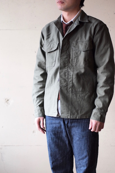 WORKERS Fatigue Shirt MIL-Reversed Sateen OD-3