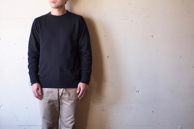 WORKERS FC Knit Medium Weight Crew Neck Black-2