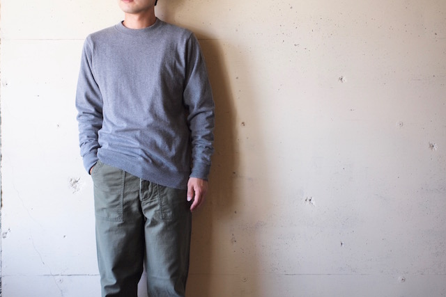 WORKERS FC Knit Medium Weight Crew Neck Grey-2
