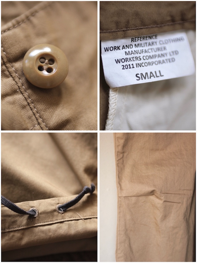 WORKERS FWP Trousers 5oz Twill Beige-7