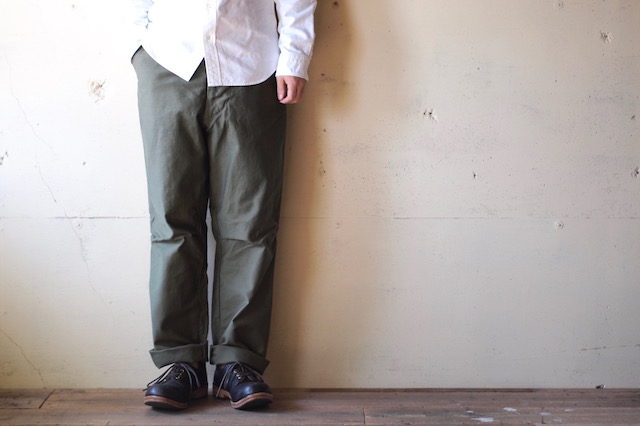WORKERS FWP Trousers Reversed Sateen OD-2