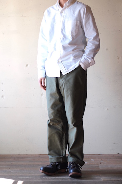 WORKERS FWP Trousers Reversed Sateen OD-3