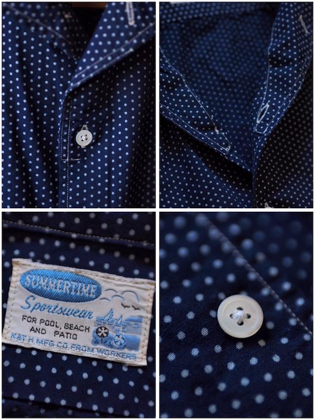 WORKERS Italian Collar Shirt Polka Dot-6