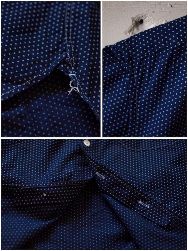 WORKERS Italian Collar Shirt Polka Dot-7