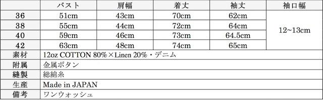 WORKERS Lot.200 Sack Coat Cotton×Linen Denim-Graph