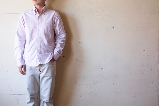 WORKERS Lot.20 Modified BD Shirt Red Stripe-2