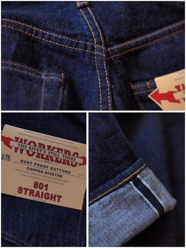 WORKERS Lot.801 Straight Jeans-9