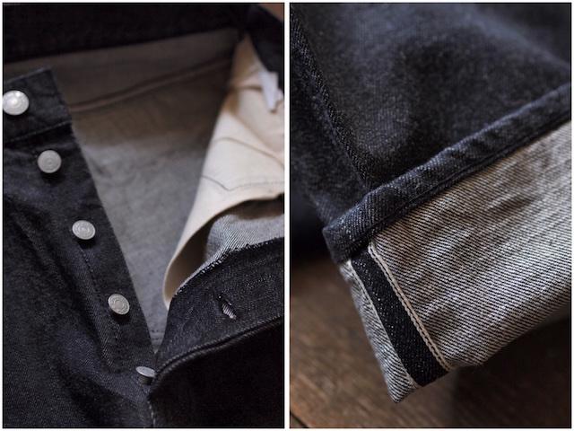 WORKERS Lot.802 Slim 13.75oz Black Jeans OW-6