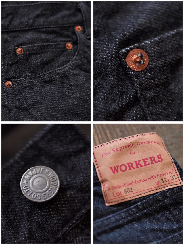 WORKERS Lot.802 Slim 13.75oz Black Jeans OW-7