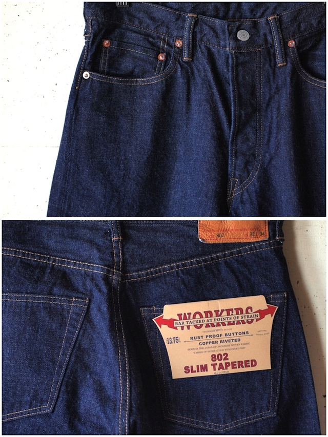 WORKERS Lot.802 Slim Tapered Jeans-5