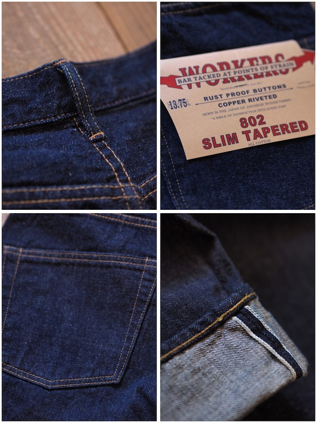 WORKERS Lot.802 Slim Tapered Jeans-8