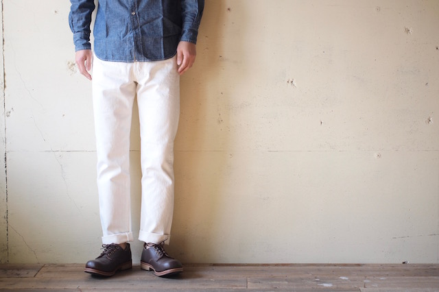 WORKERS Lot.802 Slim Tapered 13.75oz White Denim-2