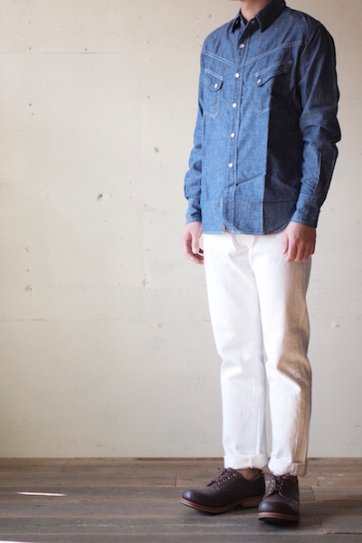 WORKERS Lot.802 Slim Tapered 13.75oz White Denim-3