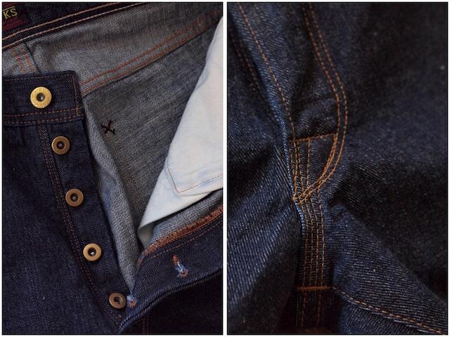 WORKERS Lot.805 Super Slim Jeans 13.75oz Left Hand Weave Denim-6