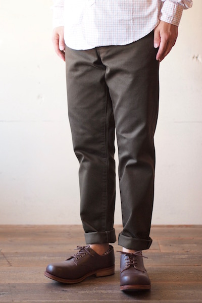 WORKERS Lot.819 Pique Pants Brown-3