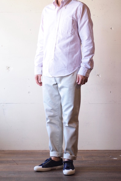 WORKERS Lot.819 Pique Pants White-3